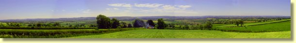 Panoramic View of the countryside around Prospect Farm Cottages